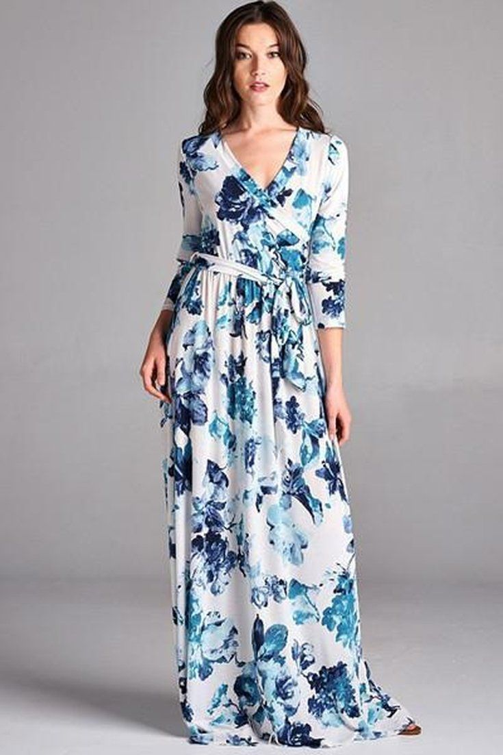 Damsel blue floral wrap dress maxi dresses wraps and floral