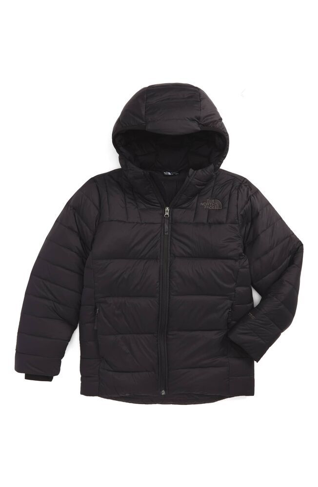 a8e7070f4817 The North Face NEW Gray Boy s Size Medium M Hooded Quilted Jacket  190  059