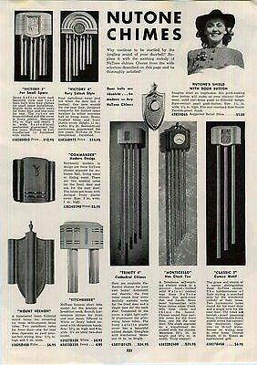 Vintage Door Bell Chimes | 1943 AD Nutone Door Bell Chimes Monticello  Trinity 4 Voctory 3