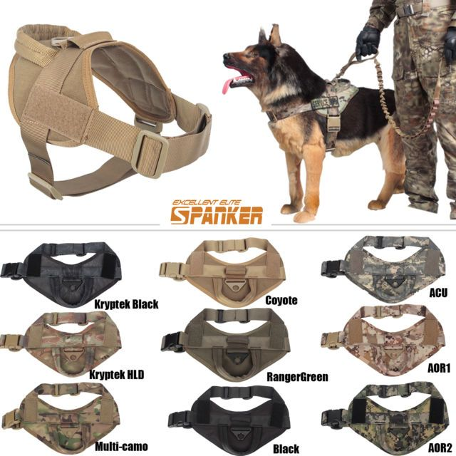 Tactical Dog K9 Training Patrol Vest Harness [2 Sizes, 9