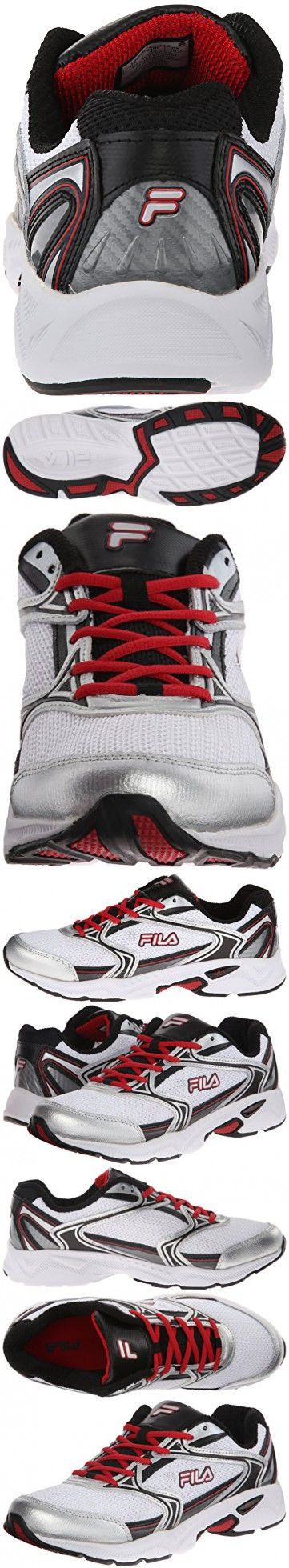 Fila Men's Xtent 2 Running Shoe, WhiteBlackFila Red, 8.5 M