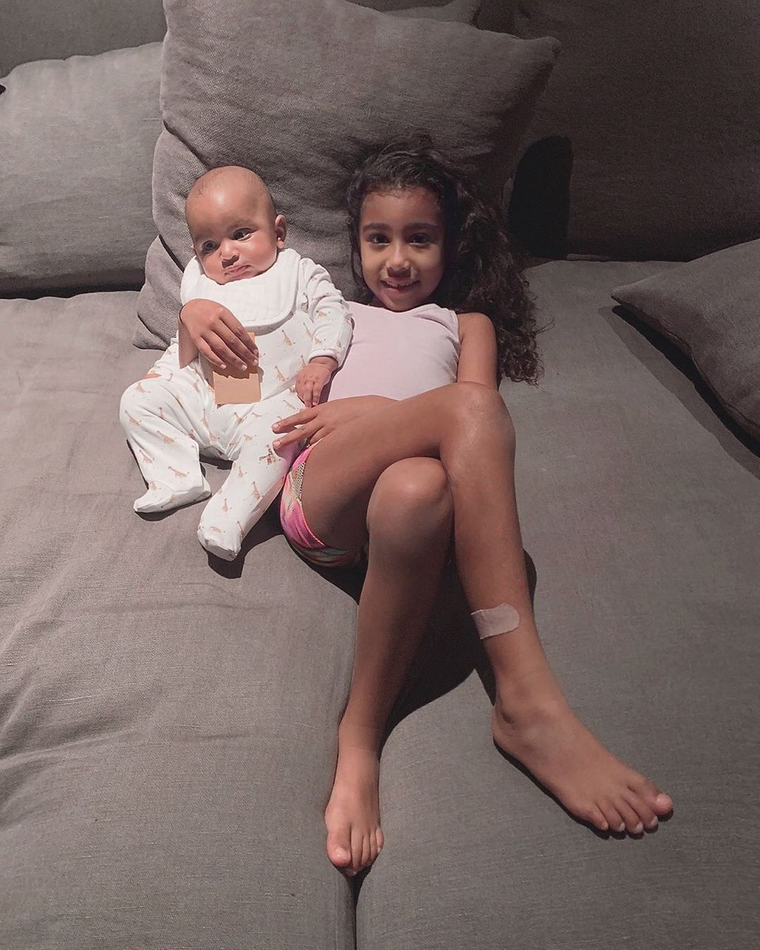 Kim Kardashian West Admits She Had To Photoshop Daughter North 6 Into Christmas Card Kardashian Kids Kim Kardashian Jenner Kids