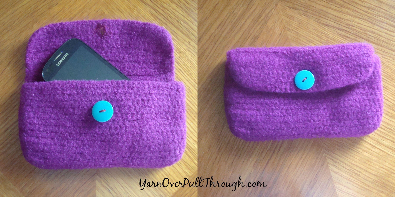 Free Pattern- Felt Crochet Clutch | crochet | Pinterest | Crochet ...