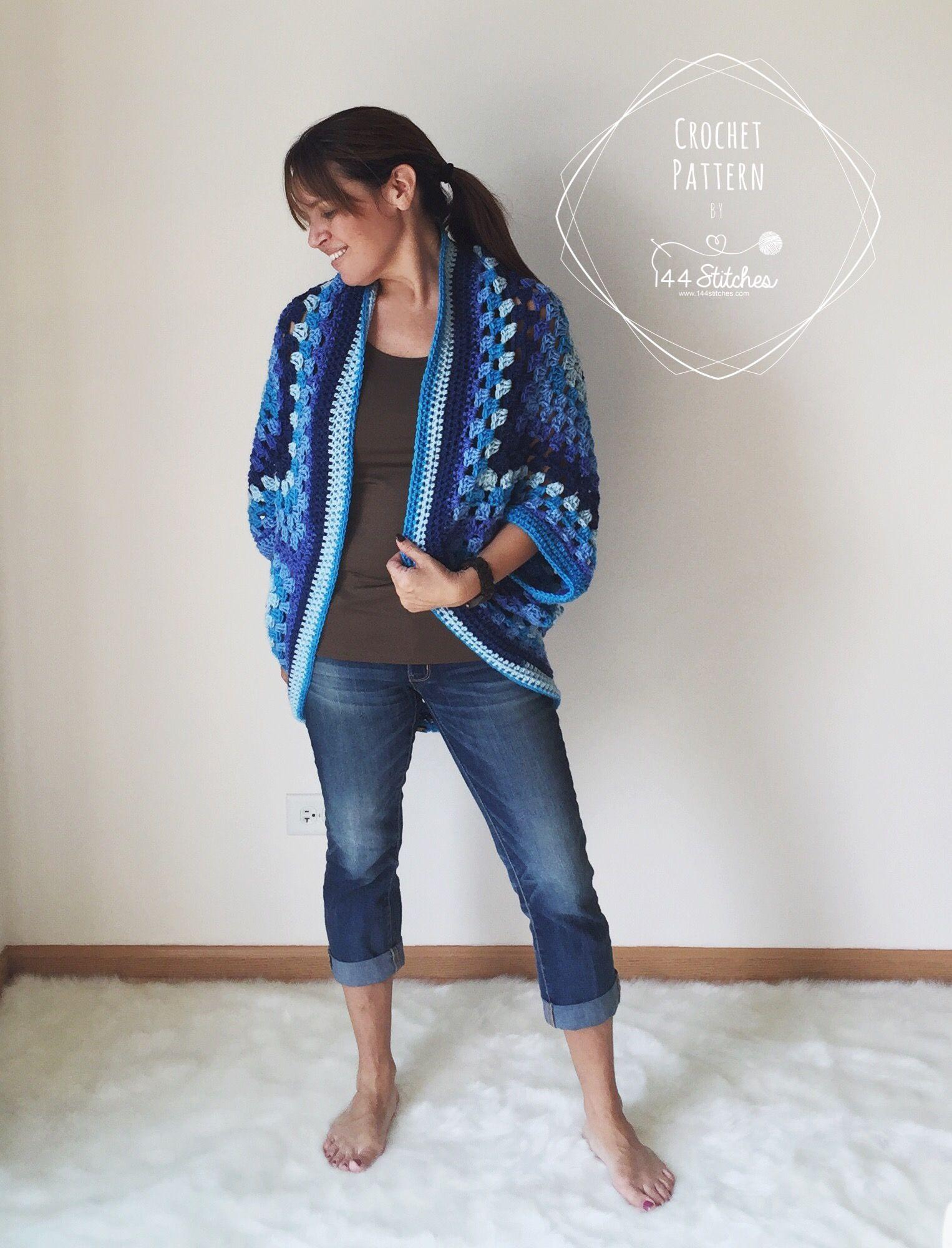 Bonito Patrón Para Encogimiento De Hombros Crochet Galería - Manta ...