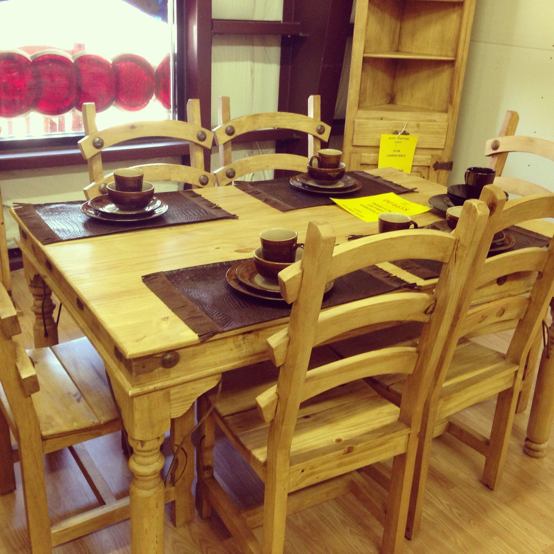 Genial Rustic Furniture Depot Www.rusticfurnituredepot.com Indian 5u0027 Table W/ 6  Chairs