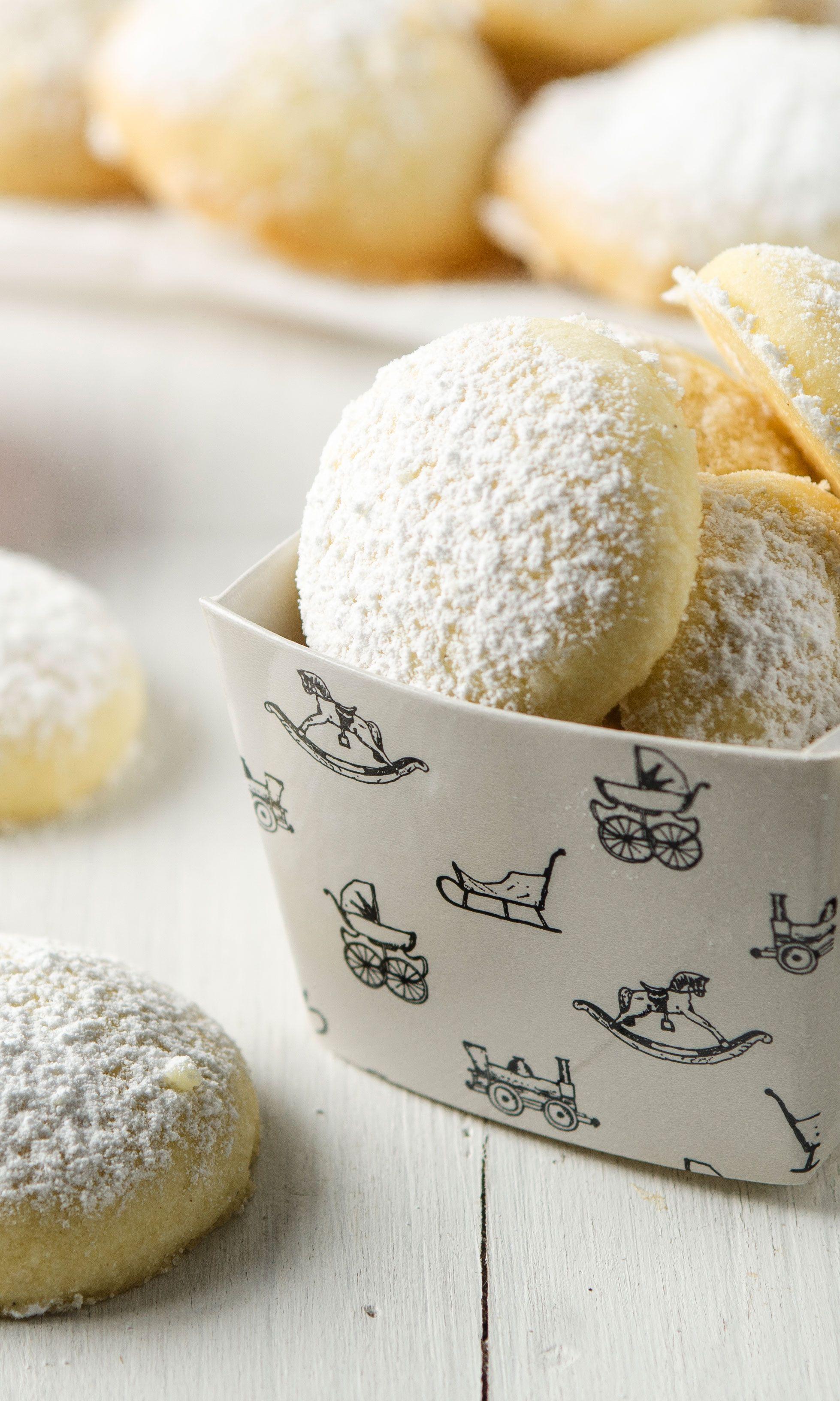 Schnelle Weihnachtskekse.Dieses Art Von Schneebälle Mögen Wir Besonders Gern Deserti