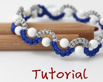 eBook (Waves) - Tutorial to Chinese knot macrame bracelet Friendship/Wish Bracelet-Instant download Pattern- FREE SHIPPING