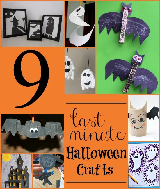 9 halloween craft ideas for kids using items you have at home very little time - Preschool Halloween Crafts Ideas