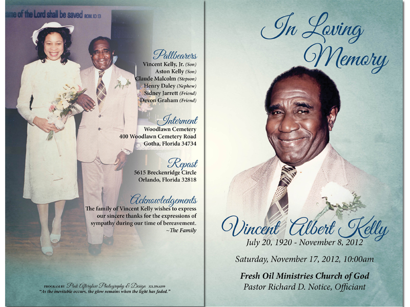 Want to create Funeral Program or Obituary Program using dragdrop – Funeral Cards Template