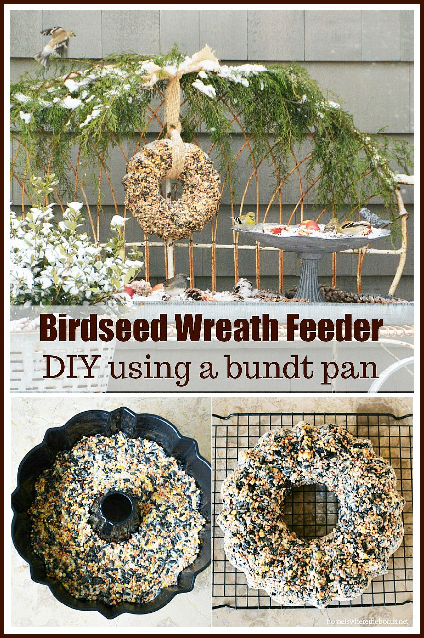 Feeding Our Feathered Friends Bird Seed Wreath DIY in