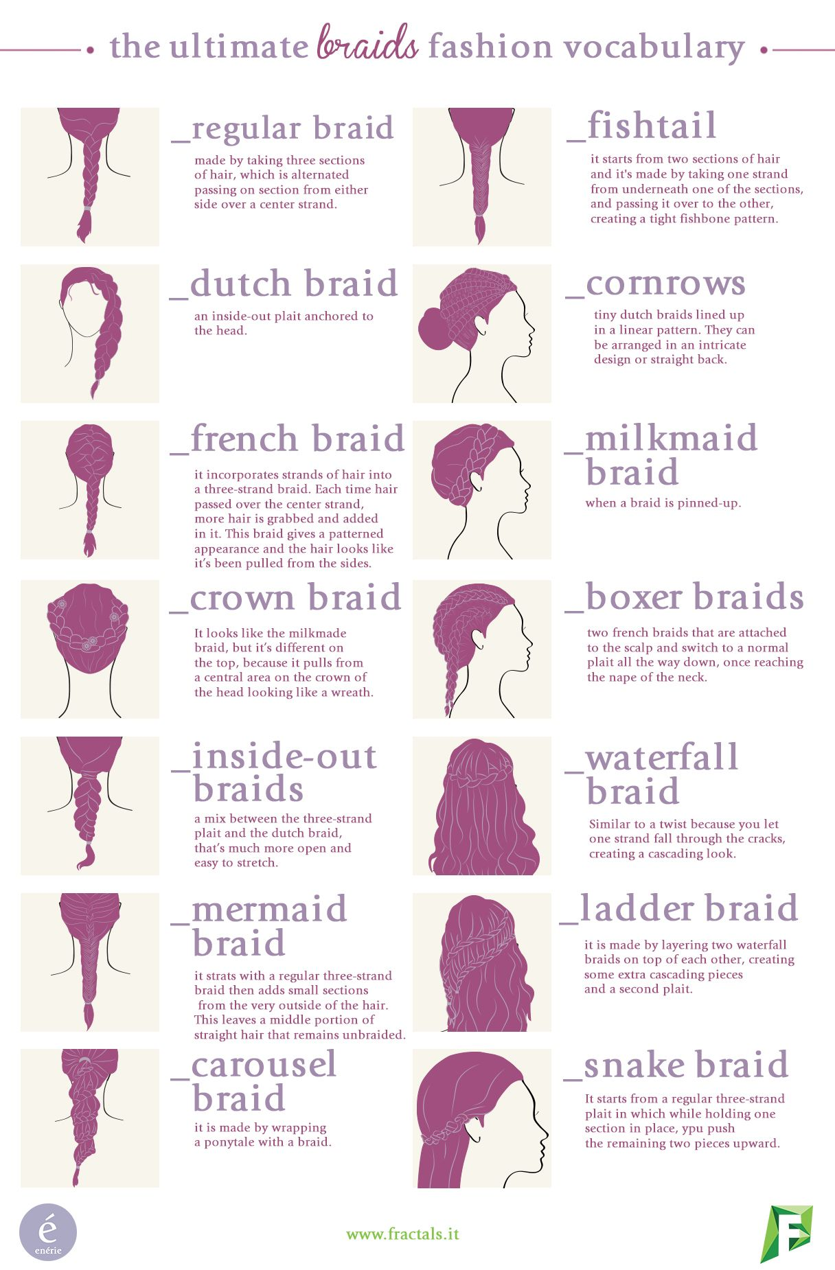 Discover all the different types of braids in our new vocabulary! Do