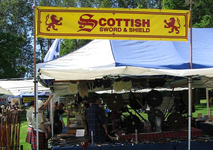 Scottish Highland Games booth