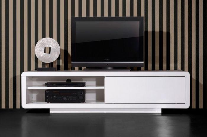 Mega Tv Lowboard Weiss 1 Schiebetur 180x45x45 Cm Disenos De Unas