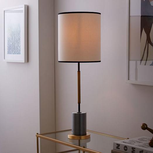 $199 West Elm + Rejuvenation Cylinder Table Lamp   Tall | West Elm