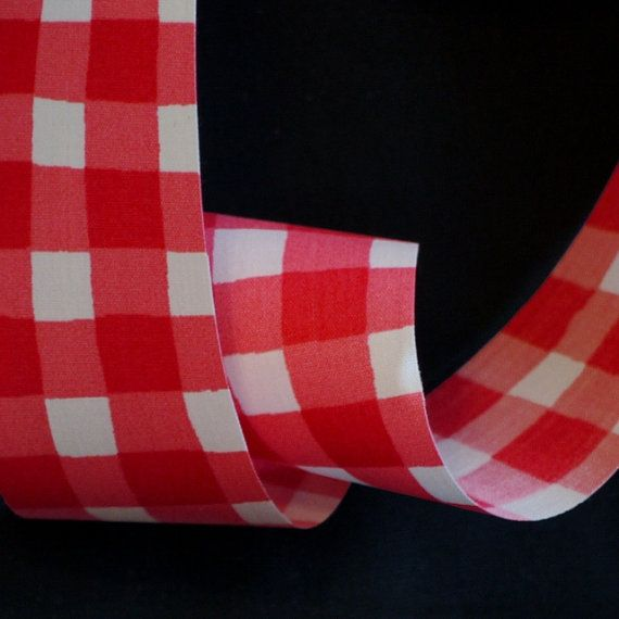 Ribbon Spool2 Cloth W F R Country Red White 4 Yards By