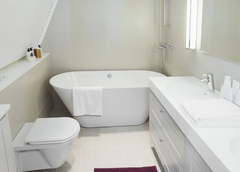 Platzsparende #Badewanne - Idee für kleines #Bad #Design