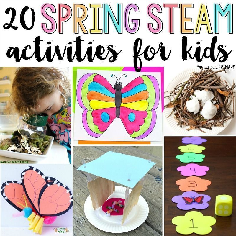 HelloSpring!  Which of the 20 Spring STEAM activities for kids will you try this season? Teach about flowers butterflies birds and plants with arts & crafts hands-on math and science experiments and other learning STEAM ideas for spring. http://bit.ly/ptbpspringSTEAM