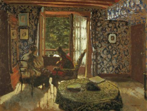 jean-édouard vuillard(1868\u20131940), interior (madame vuillard et grand