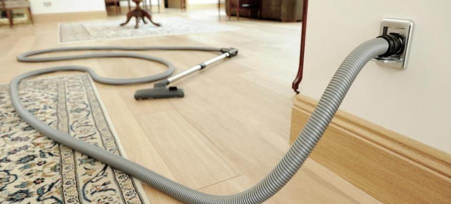 Central Vacuum Cleaner Hose Attached To A Wall Inlet Central Vacuum System Central Vacuum Cleaner Central Vacuum