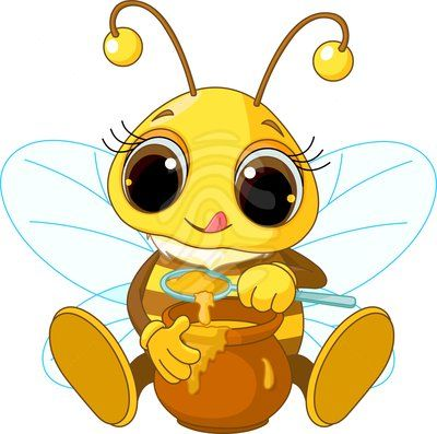 clip art cute bee eating honey inspiration pinterest clip art rh pinterest co uk cute bumblebee clipart funny bee clipart