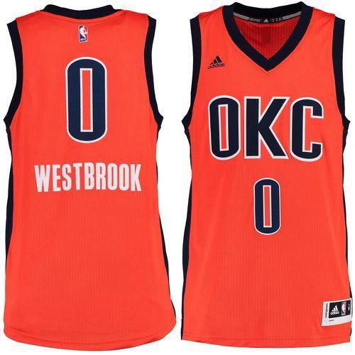 Russell Westbrook Oklahoma City Thunder adidas Alternate Swingman climacool  Jersey - Sunrise