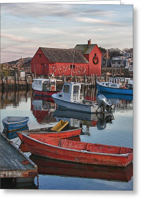 Christmas at Motif1 Rockport Massachusetts by Jeff Folger in 2020