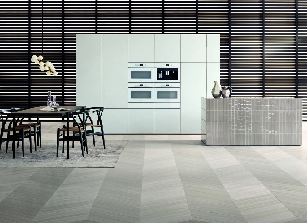 Miele artline küche kitchen reduktion reduction design weiß