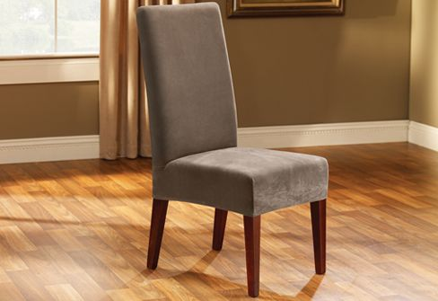Photo Of Stretch Pique Short Dining Chair Cover