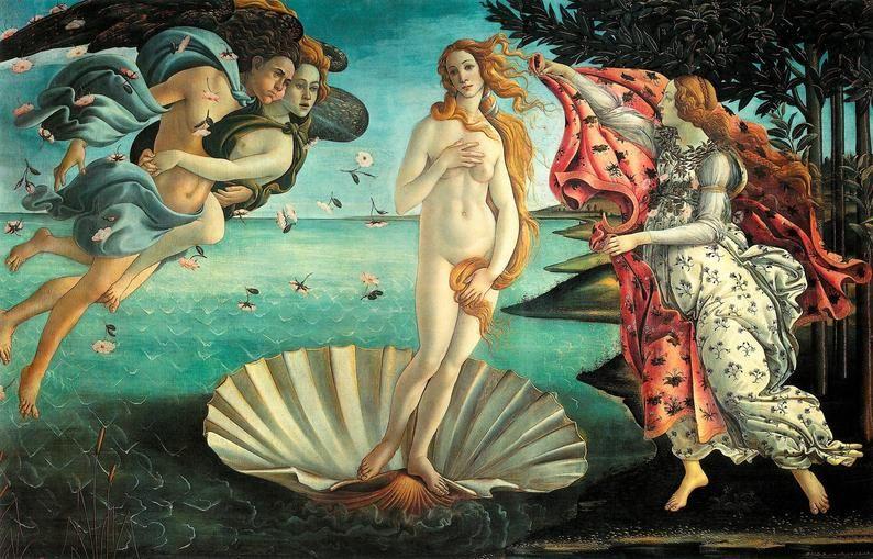 Sandro Botticelli The Birth Of Venus Italian Renaissance Etsy In 2021 Venus Art Famous Art Paintings Famous Painting