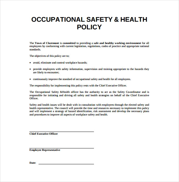 15+ Health And Safety Plan Templates Workplace safety
