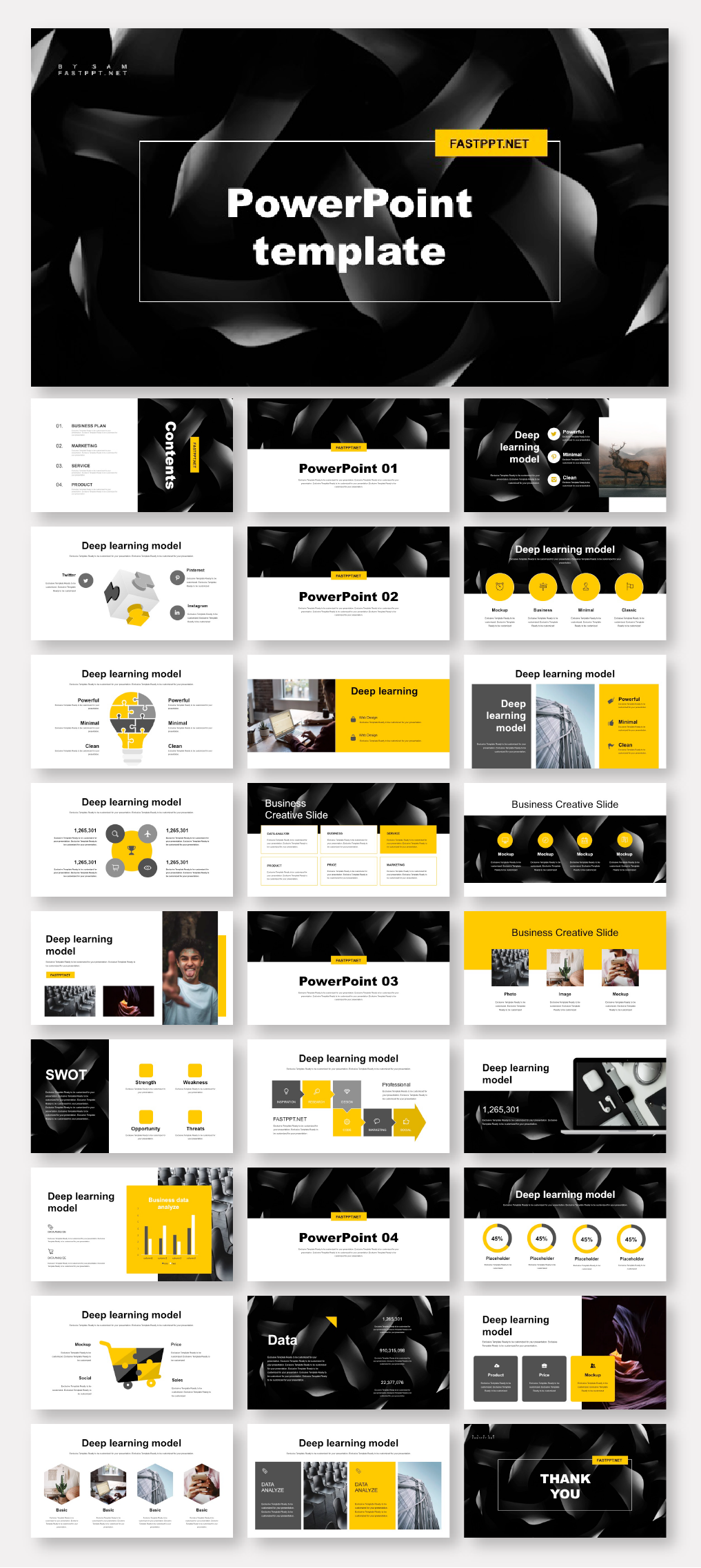 Black Yellow Business Report Presentation Template Original And High Quality Powerpoint Templates Presentation Templates Powerpoint Presentation Design Powerpoint Design Templates