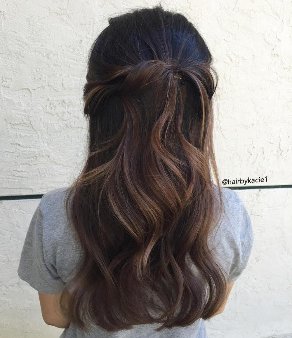 Wavy half up half down hairstyle prom hairstyles collections in