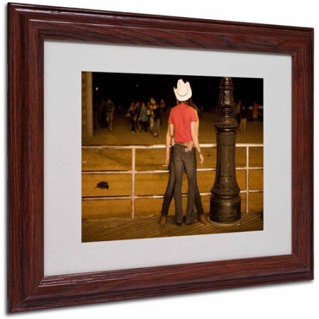 Trademark Fine Art Brooklyn Cowboy by Yale Gurney, Wood Frame, Size: 11 x 14, Multicolor