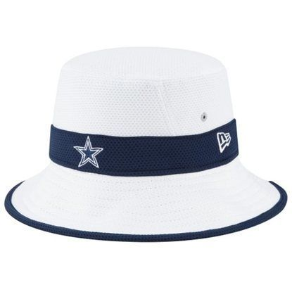 Dallas Cowboys New Era Training Camp Bucket Hat White