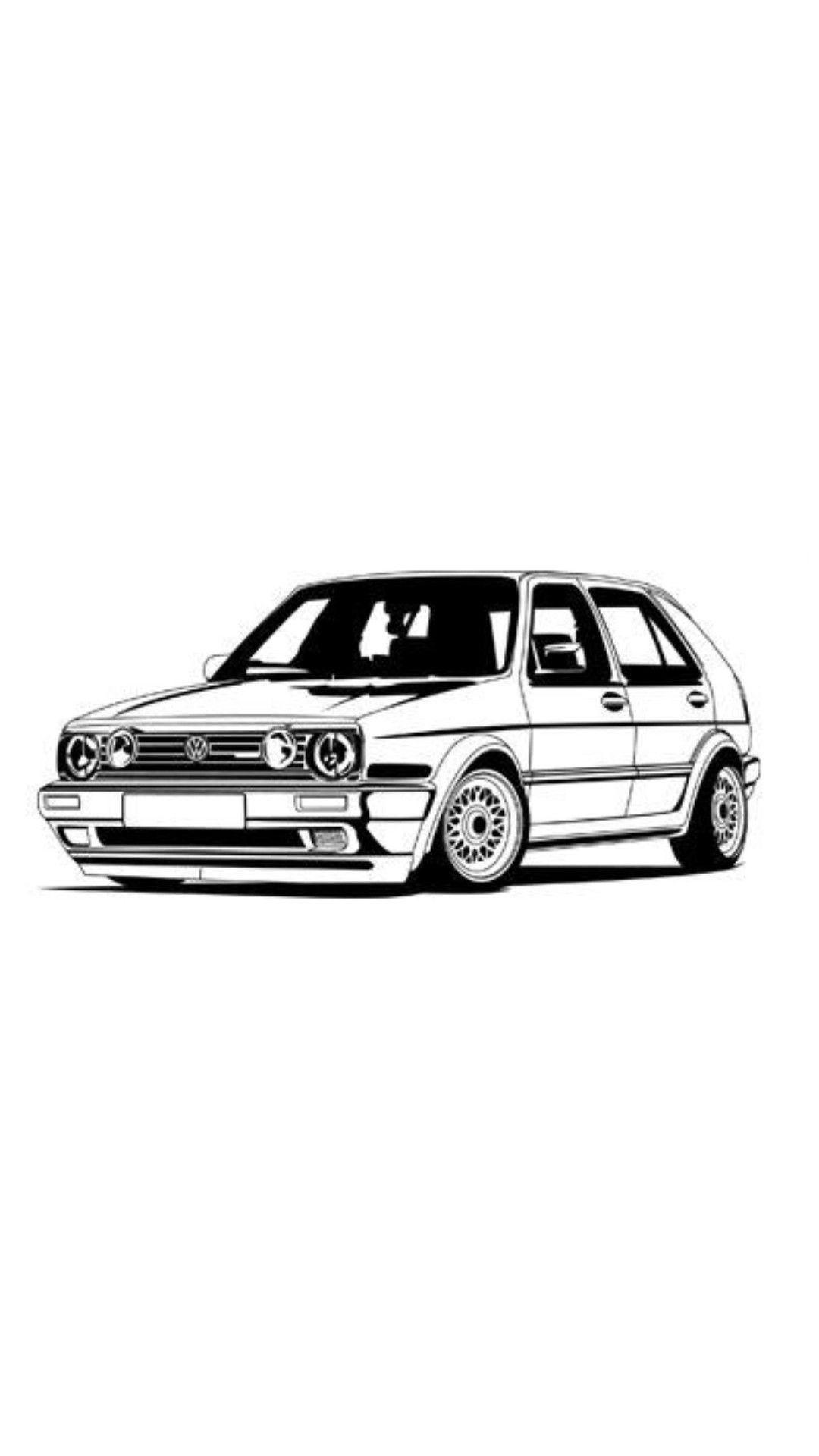 Pin Von Matias Cortes Auf Cartoon Jdm Car Volkswagen Golf Mk2 Golf Mk2 Volkswagen Golf