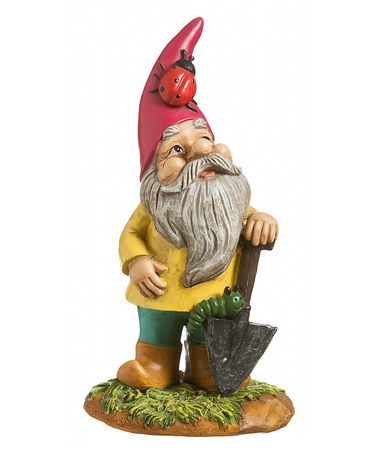 Loving This Garden Gnome Ladybug Statue On Zulily