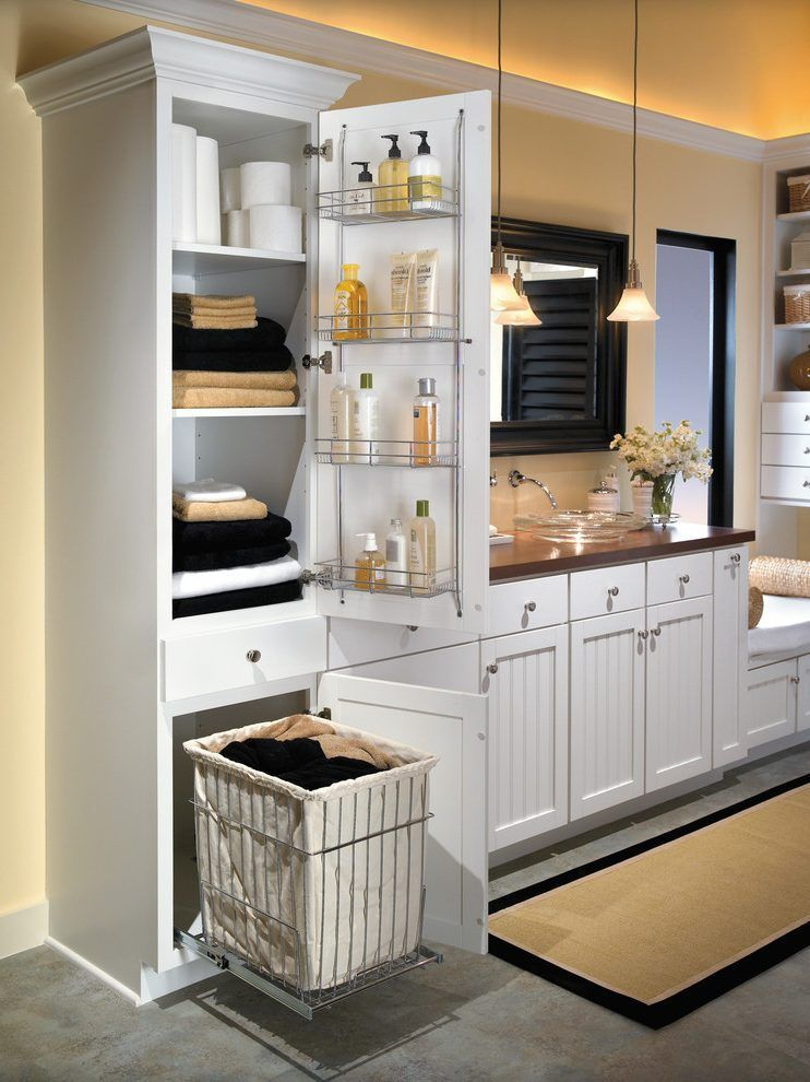 Fine Aristokraft Cabinets Bathroom Farmhouse With Laundry Hamper Beutiful Home Inspiration Ommitmahrainfo