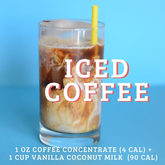 Low Calorie Coconut Milk Iced Coffee Iced Coffee Coconut Coffee Coconut Milk