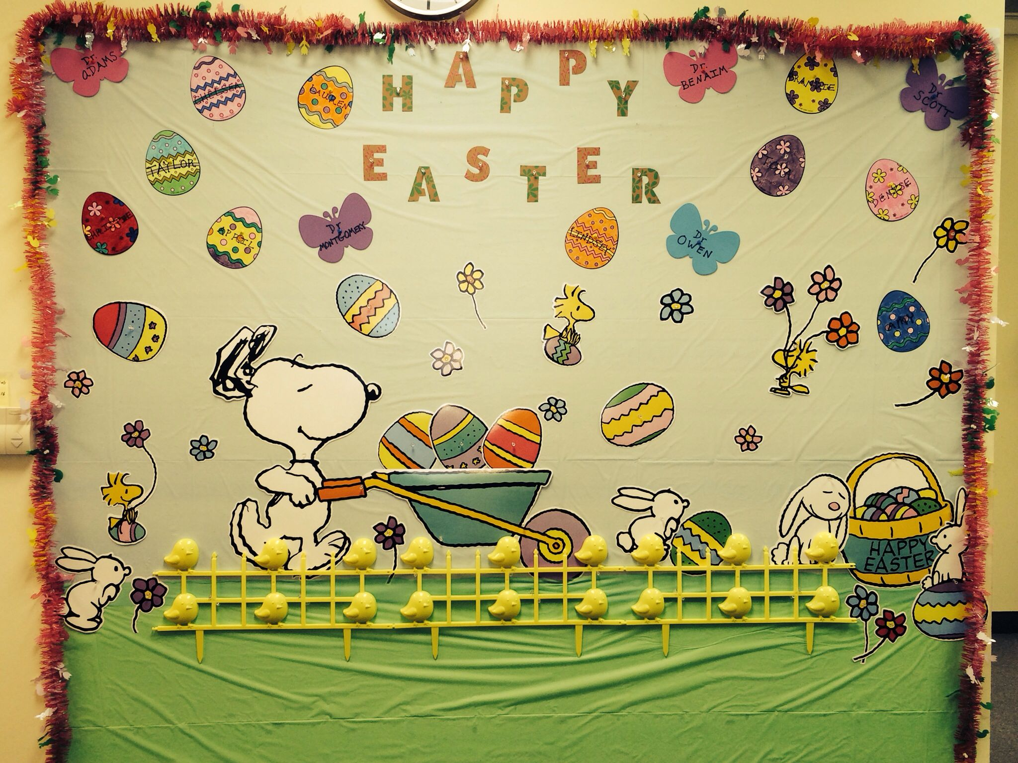A Snoopy Easter Decor. Classroom wall decoration easter. Spring ...