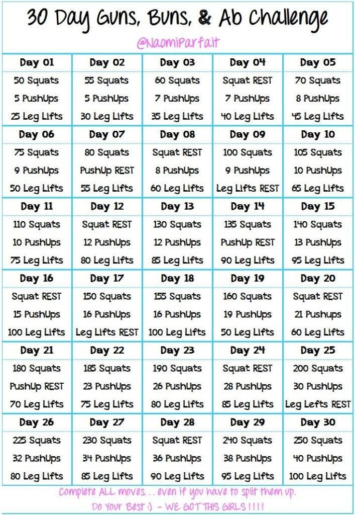 Weekly Workout Plan Workout plans, Seven days and 7 day workout - weekly exercise plans