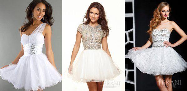 Short White Prom Dresses 2014 | Wedding | Pinterest | Short white ...