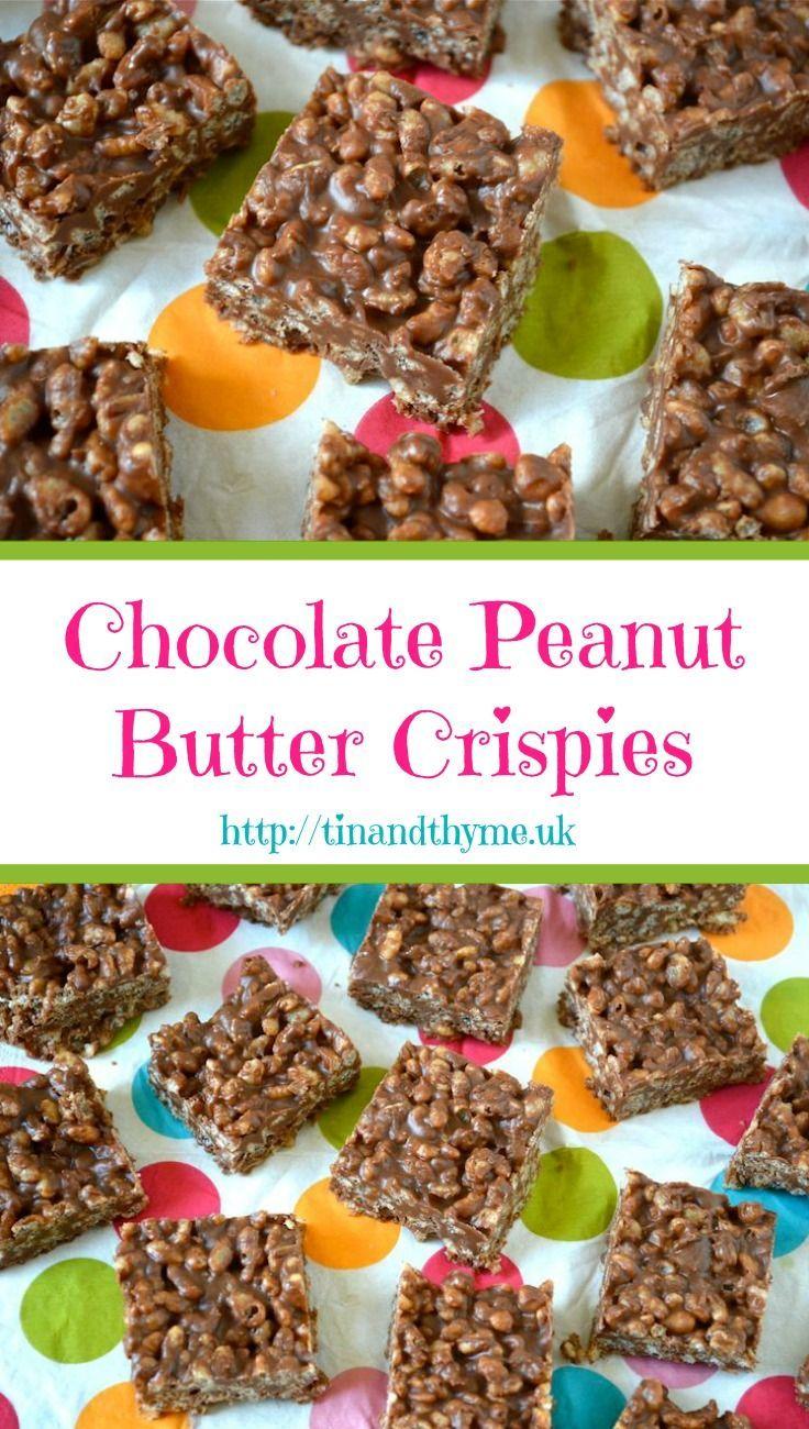 Chocolate Peanut Butter Crispies recipe. Light, crunchy
