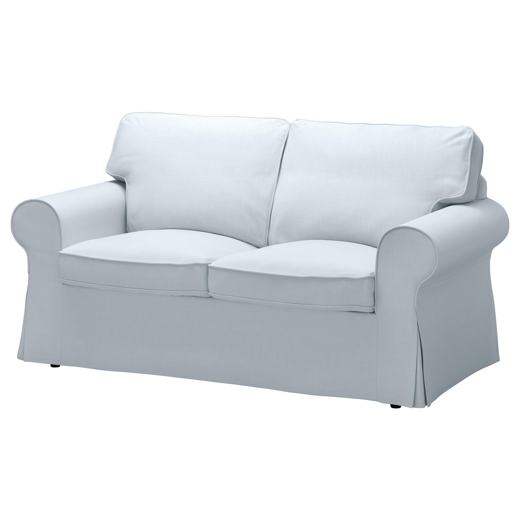 EKTORP Two seat sofa Nordvalla light blue