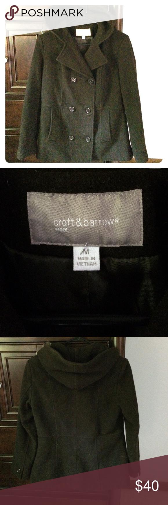 Croft and barrow wool pea coat tonight only  Wool pea coat Barrow