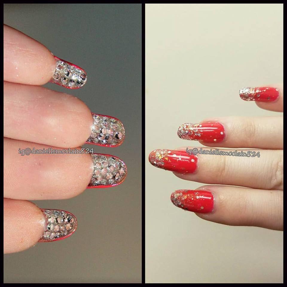 A hidden nail art design of rhinestones grew out my nails and a hidden nail art design of rhinestones grew out my nails and then glued each prinsesfo Choice Image