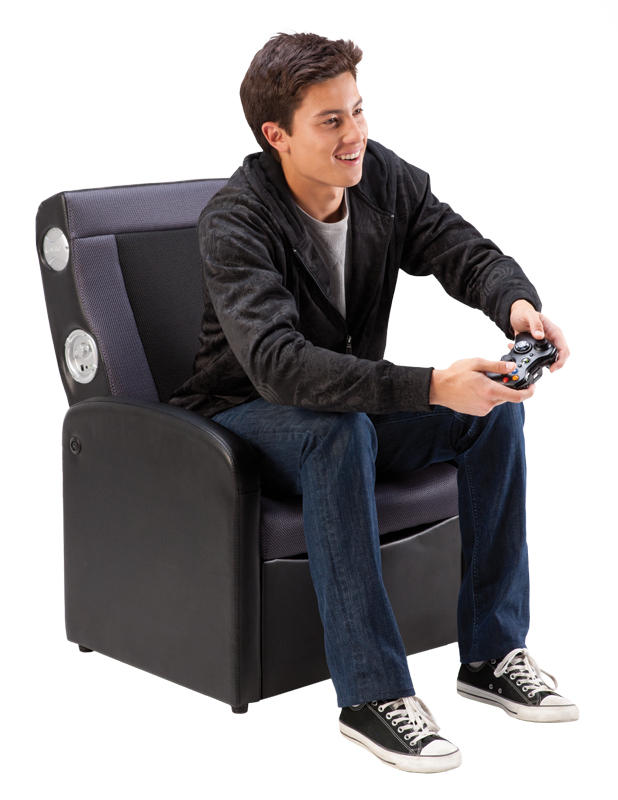 Ottoman Gaming Chair Multimedia gaming storage