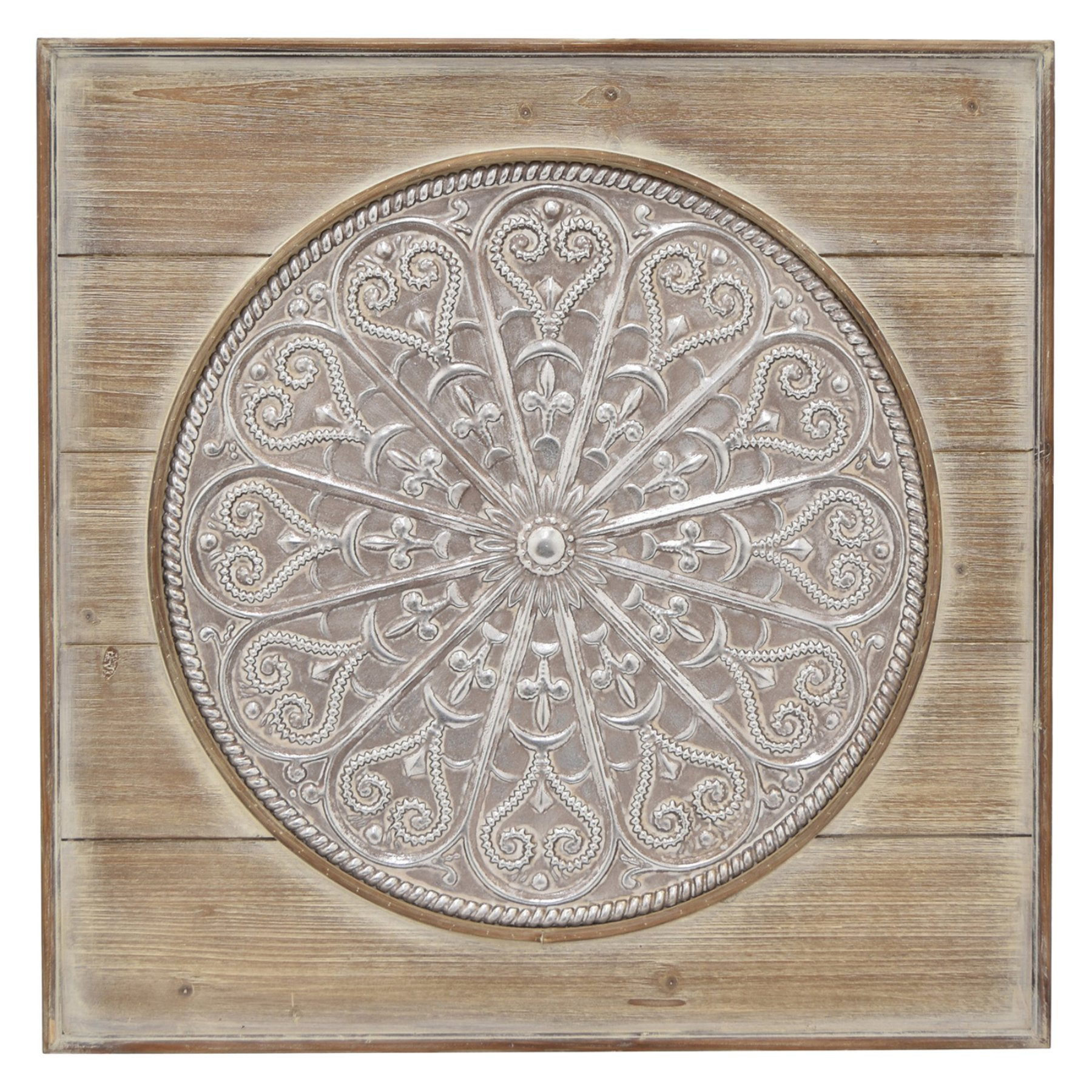 Three Hands Metal And Wood Mandala Wall Accent Products Wood