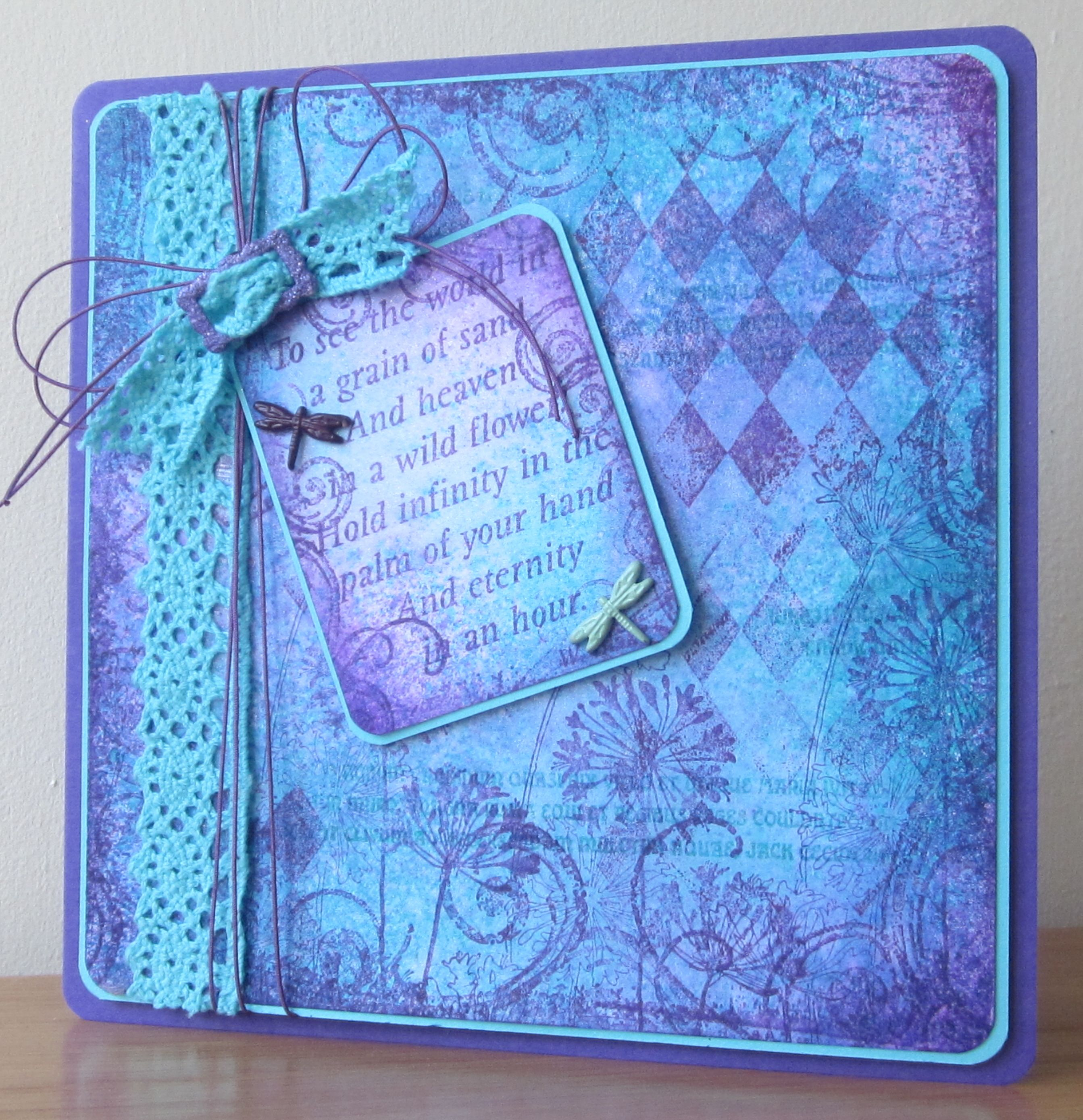Floral Fantasies - that stamp again with distress inks