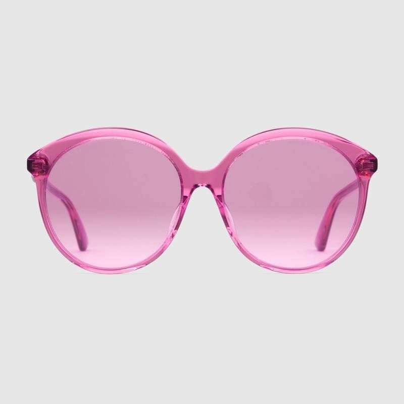 d35d2d1deb9b2 Gucci Pink Specialized fit round-frame acetate sunglasses. Women s  Accessories