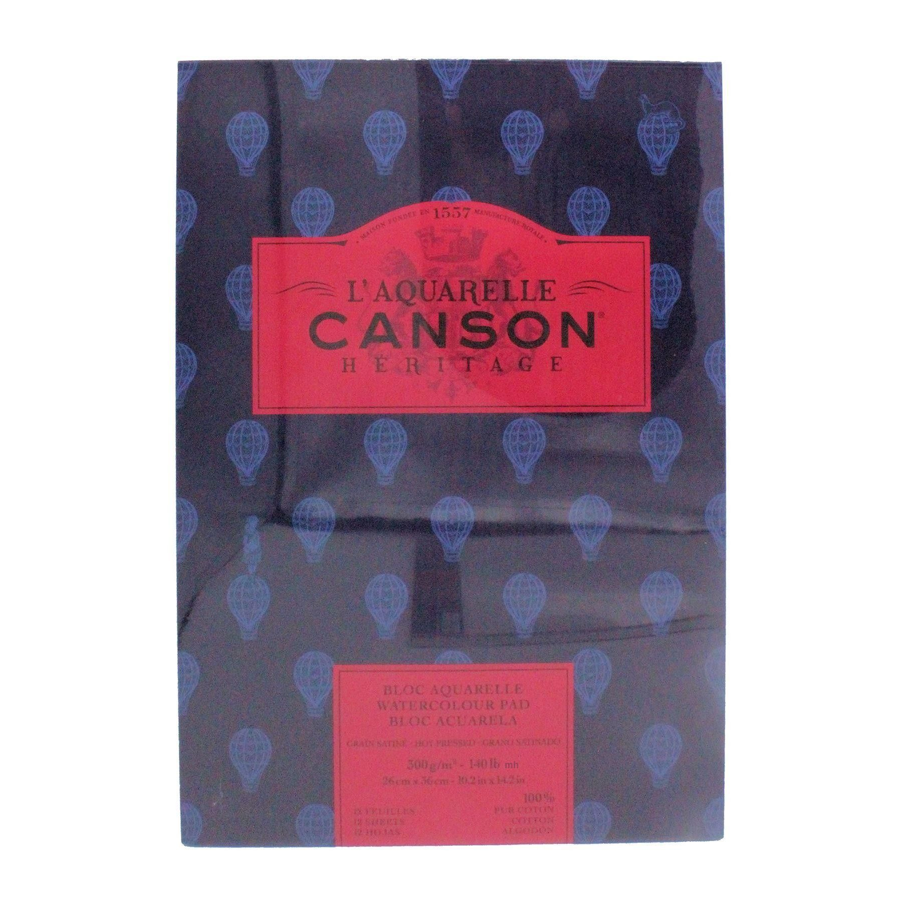 Canson L Aquarelle Heritage Hot Press Pad Glued 300gsm 140lbs